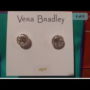 Vera Bradley Stud Earrings ( April Birthstone)